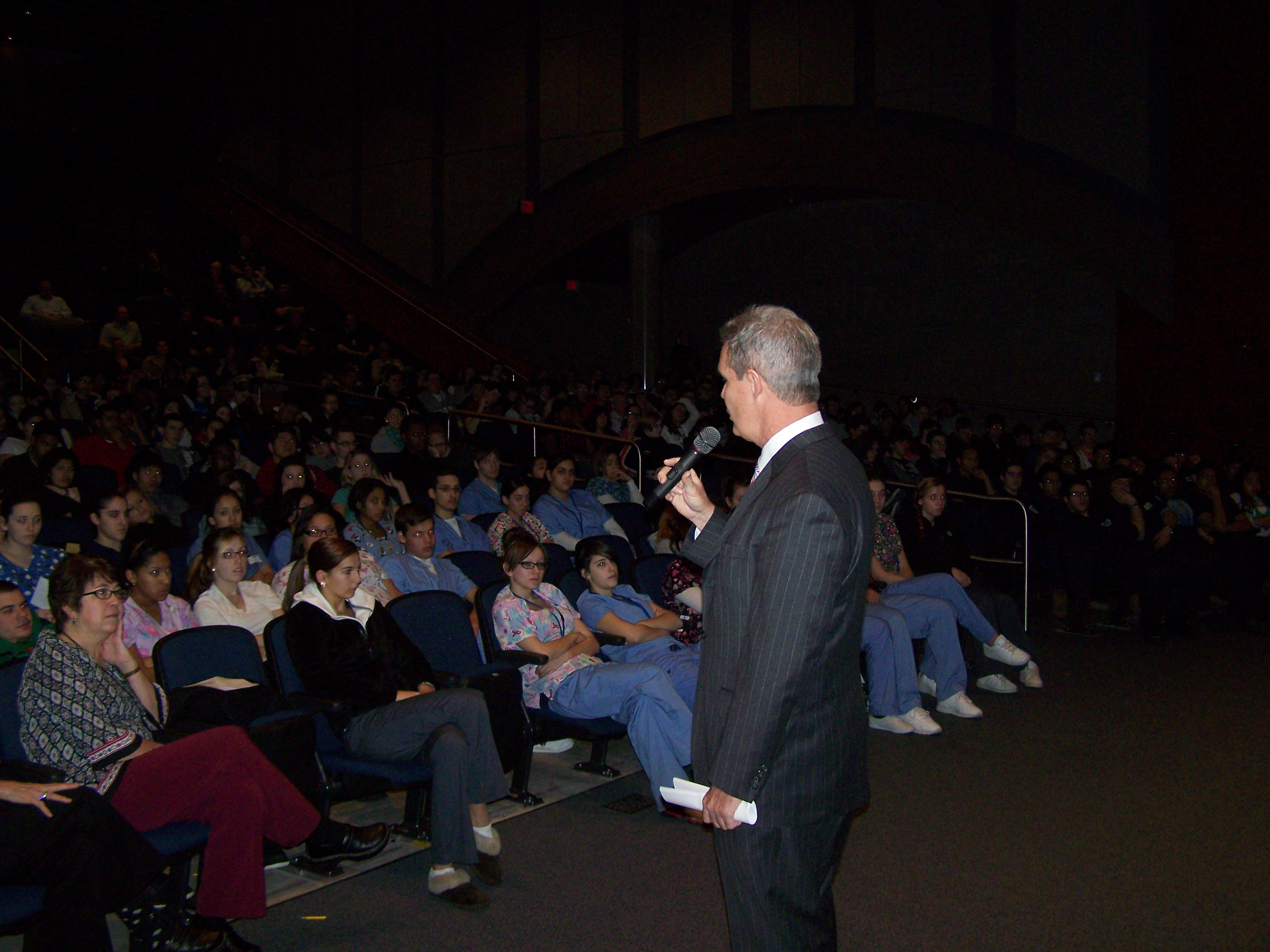 DA Early talked to Worc. Tech students about distracted driving